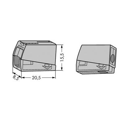 borne pour luminaires wago 224 101 flexible 0 5 2 5 mm rigide 0 5 2 5 mm nombre total de. Black Bedroom Furniture Sets. Home Design Ideas