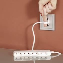 Multiprise sans interrupteur 4 prises GAO Euro Slim 0254 blanc