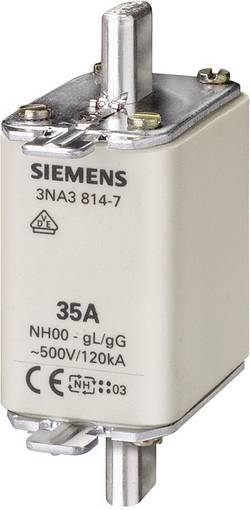 Fusible NH Siemens 3NA3832 Taille du fusible=00 125 A 500 V/AC, 250 V/AC 3 pc(s)