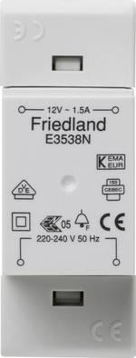 Transformateur de sonnette Friedland E3538N 12 V/AC 1.5 A