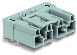 Connecteur d'alimentation embase mâle horizontale WAGO 770-874/011-000 25 A Nbr total de pôles: 4 vert clair Série WINS