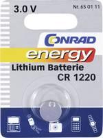 Pile bouton CR 1220 lithium Conrad energy 30 mAh 3 V 1 pc(s)