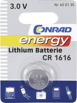 Pile bouton CR 1616 lithium Conrad energy 45 mAh 3 V 1 pièce