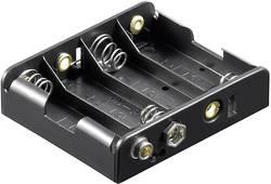 Support de pile 4x LR6 (AA) Goobay 81466 raccord par bouton-poussoir (L x l x h) 61.7 x 56.6 x 15.5 mm