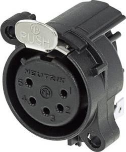 Connecteur XLR embase femelle, contacts coudés Neutrik NC5FAH Nombre total de pôles: 5 noir 1 pc(s)