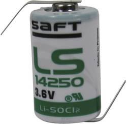 Pile spéciale 1/2 LR6 lithium Saft LS14250HBG cosses à souder en Z 3.6 V 1200 mAh 1 pc(s)