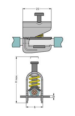 Etrier de serrage de blindage WAGO 791-124 50 pc(s)