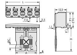 Boîtier mâle (platine) série 2092 Barrette mâle droite 2 pôles WAGO 2092-3102 Pas: 7.50 mm 100 pc(s)