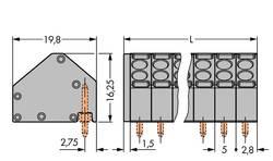WAGO Bornier à ressort 1.50 mm² Nombre total de pôles 7