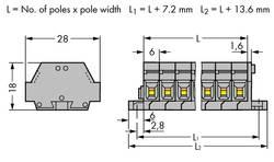 Bornier WAGO 261-425 6 mm ressort de traction Affectation des prises: L gris 50 pc(s)