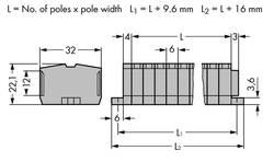 Barrettes à bornes WAGO 264-108 6 mm ressort de traction Affectation des prises: L gris 50 pc(s)