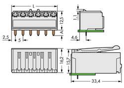 Boîtier femelle (platine) série 2092 WAGO 2092-1324 embase femelle horizontale Nbr total de pôles 4 Pas: 5 mm 200 pc(s)
