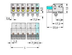 Boîtier pour contacts femelles série 2721 femelle, droit 9 pôles WAGO 2721-209/008-000 Pas: 7.50 mm 25 pc(s)