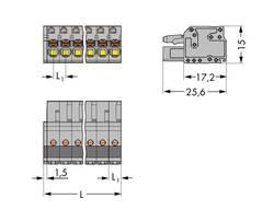 Boîtier pour contacts femelles série 2231 femelle, droit 15 pôles WAGO 2231-115/026-000 Pas: 5 mm 25 pc(s)