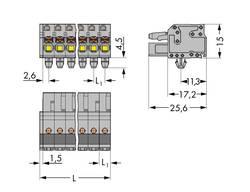 Boîtier pour contacts femelles série 2231 femelle, droit 12 pôles WAGO 2231-112/008-000 Pas: 5 mm 25 pc(s)