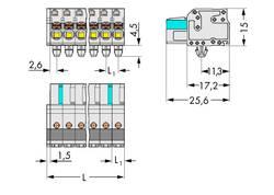 Boîtier pour contacts femelles série 2721 WAGO 2721-116/008-000 femelle, droit Nbr total de pôles 16 Pas: 5 mm 25 pc(s)