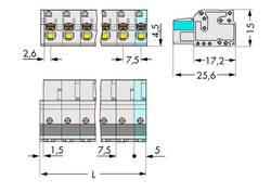 Boîtier pour contacts femelles série 2721 femelle, droit 10 pôles WAGO 2721-210/026-000 Pas: 7.50 mm 25 pc(s)