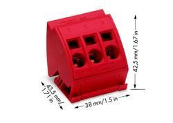 Bloc de connexion 16 mm² WAGO 812-113 12 pc(s)