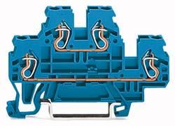 Bloc de jonction traversant à 2 étages WAGO 870-504 5 mm ressort de traction Affectation des prises: N, N bleu 50 pc(s)