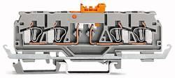 Borne sectionnable WAGO 280-882 5 mm ressort de traction Affectation des prises: L gris 50 pc(s)