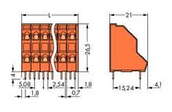 WAGO Bornier à 2 étages 2.50 mm² Nombre total de pôles 30