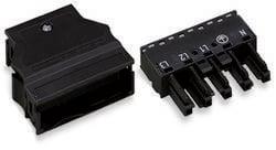 Connecteur d'alimentation femelle, droit WAGO 770-305 25 A Nbr total de pôles: 5 noir Série WINSTA MIDI 25 pc(s)