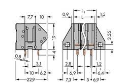 WAGO Bornier à ressort 0.50 mm² Nombre total de pôles 8
