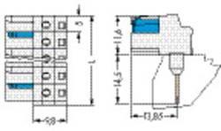 Boîtier femelle (platine) série 722 embase femelle, verticale 1 pôles WAGO 722-740/005-000 25 pc(s)