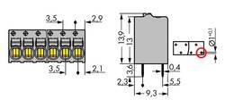 Bornier à ressort WAGO 2081-1125 1 mm² Nombre total de pôles 5 gris 140 pc(s)