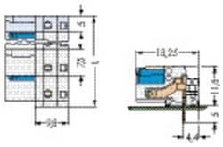 Boîtier femelle (platine) série 722 embase femelle horizontale 5 pôles WAGO 722-832/005-000 100 pc(s)