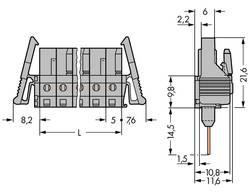 Boîtier femelle (platine) série 232 embase femelle, verticale 4 pôles WAGO 232-134/005-000/025-000 Pas: 5 mm 100 pc(s)