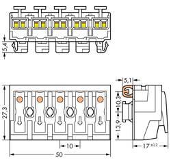 Borne de branchement secteur WAGO 294-8115 rigide: 0.5-2.5 mm² Nombre total de pôles: 5 blanc 250 pc(s)