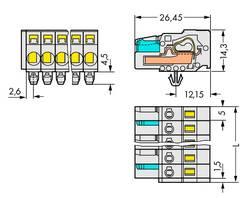 Connecteur WAGO 721-113/008-000/037-000 Nbr total de pôles 13 Nbr de rangées 1 25 pc(s)