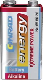 Pile bloc 9 V alcaline(s) Conrad energy 658026 9 V 1 pc(s)
