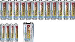 Conrad energy Lot de piles LR03, LR6, bloc 9V 17 pc(s)