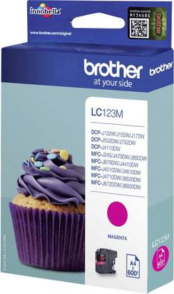 Cartouche d'encre BROTHER LC-123M, Magenta