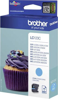 Cartouche d'encre BROTHER LC-123C, Cyan