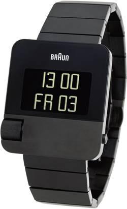 Montre-bracelet numérique Braun 66535-BN0106BKBTG-SIDE à quartz, chronographe noir