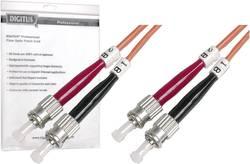 Câble de raccordement fibre optique Digitus Professional DK-2511-01 [1x ST mâle - 1x ST mâle] 50/125µ Multimode OM2 1 m