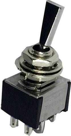 Interrupteur à levier 2 x On/Off/On SCI 701161 250 V/AC 3 A permanent/0/permanent 1 pc(s)