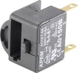 Élément de contact APEM A02511 2 NF (R) à rappel 380 V/AC 1 pièce