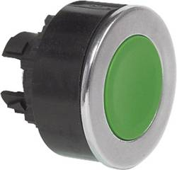 Bouton-poussoir à rappel collerette métal, chromé BACO BA100505 vert 1 pc(s)
