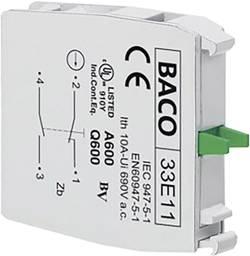 Élément de contact BACO BA33E11 1 NF (R), 1 NO (T) à rappel 600 V 1 pc(s)
