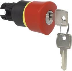 Bouton-poussoir coup de poing collerette plastique, noir BACO BA223892 rouge décrochage par clef 1 pc(s)