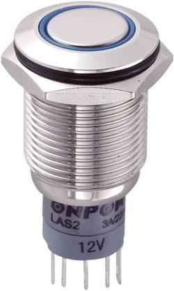 Interrupteur anti vandalisme TRU COMPONENTS LAS2GQF-11ZE/B/12V/N/P 701791 250 V/AC 3 A 1 x On/On IP67 à accrochage 1 pc(