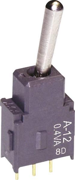 Interrupteur à levier 1 x On/On NKK Switches A12AH 28 V DC/AC 0.1 A à accrochage 1 pc(s)