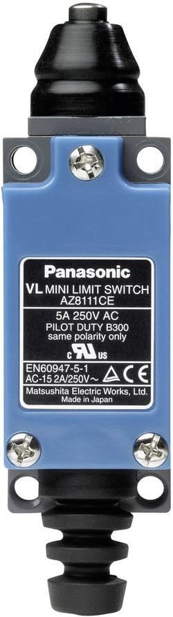 Interrupteur de fin de course 115 V/DC, 250 V/AC 5 A poussoir à