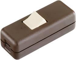 Interrupteur pour câble souple interBär 8010.009.01 marron, beige 2 x Off/On 10 A 1 pc(s)