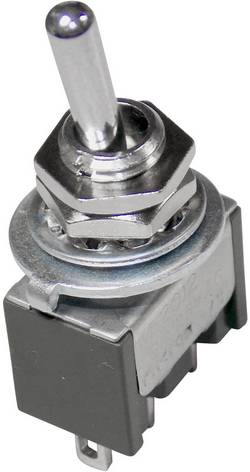 Interrupteur à levier 1 x On/On NKK Switches M2012SS4W01 250 V/AC 3 A à accrochage 1 pc(s)