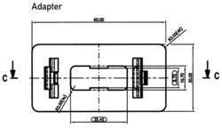 Platine d'adaptation Bär 100-071.0167 (L x l) 60 mm x 30 mm noir 1 pc(s)